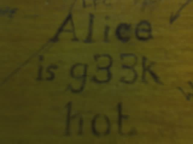 Alice is g33k hot