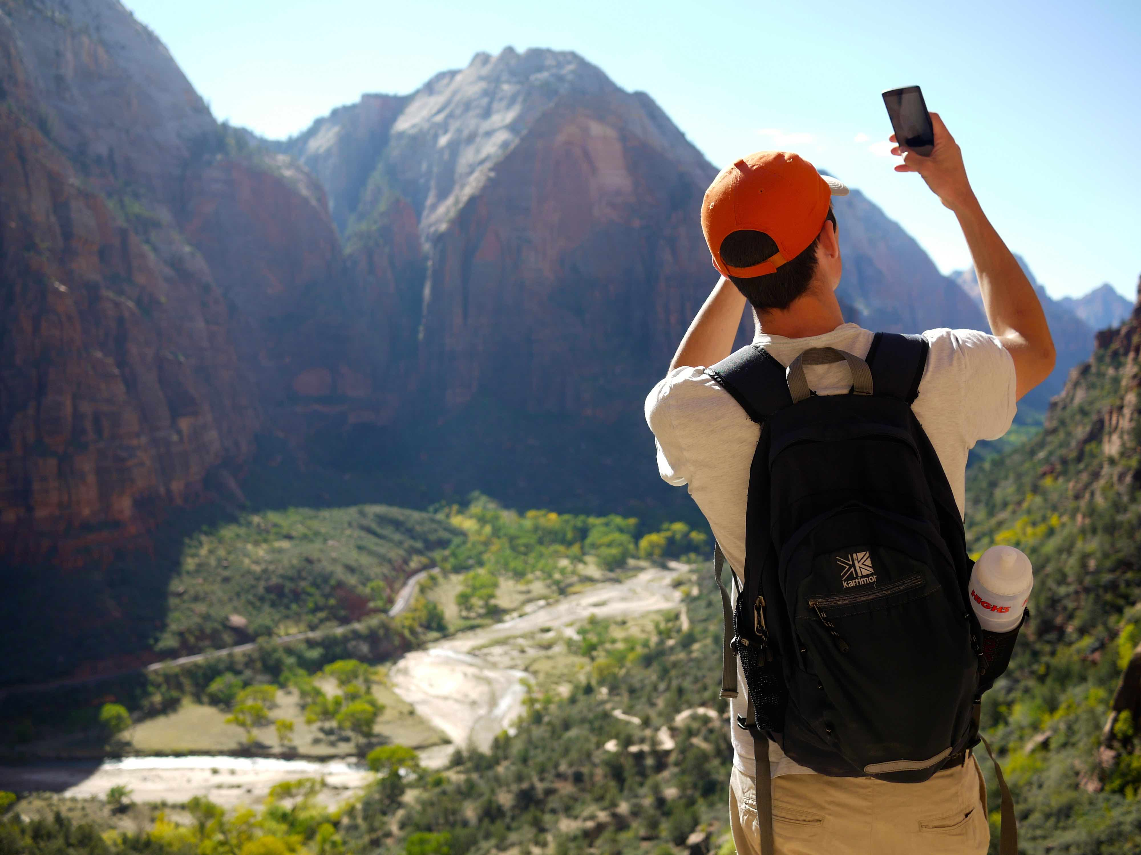 Lachie in Zion National Park